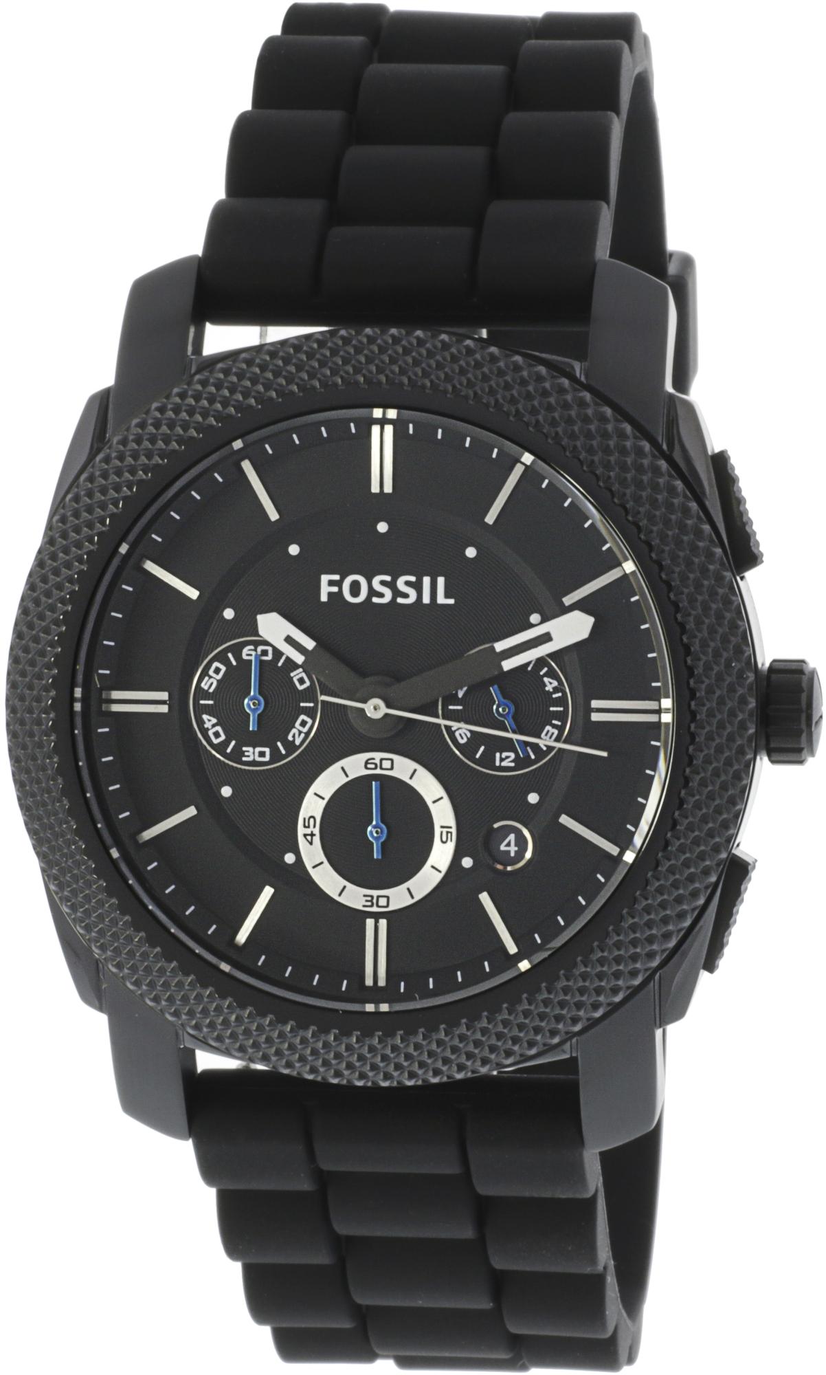 Fossil_Mens_Machine_FS4487_Black_Silicone_Analog_Quartz_Fashion_Watch