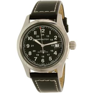 Hamilton Men's Khaki Field Automatic H70455733 Black Leather Swiss Automatic Watch