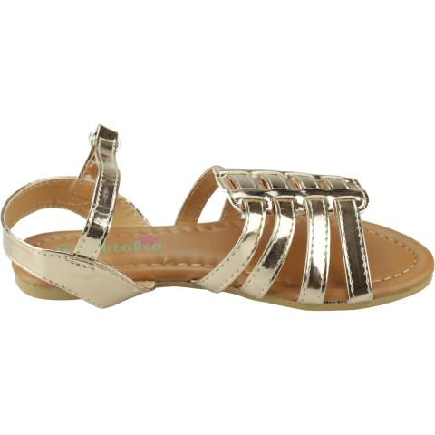 Petalia Girl's Mirror Sandal Ankle-High