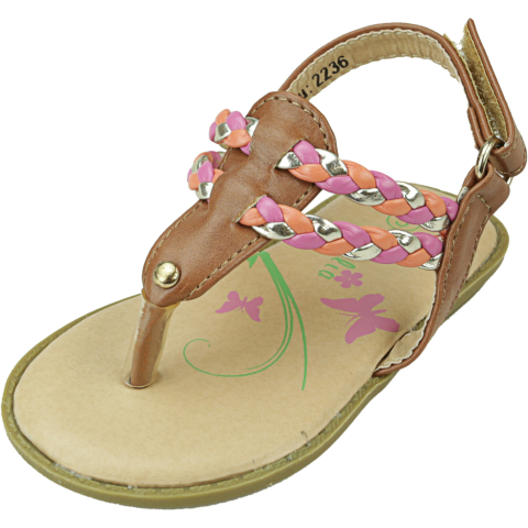 Petalia Girl's Braided Thong Ankle-High Sandal