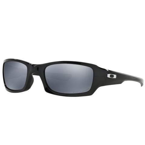 Oakley Men's Polarized Fives Squared 0OO9238-92380654 Black Rectangle Sunglasses
