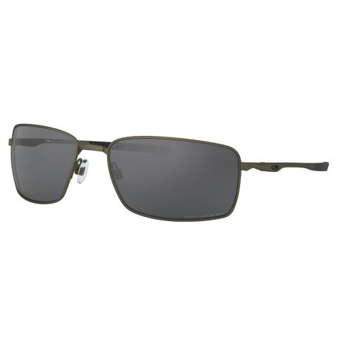 Oakley Men's Polarized Square Wire 0OO4075-40750460 Black Rectangle Sunglasses