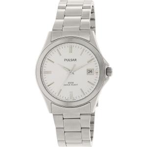 Pulsar Men's PXH093 Silver Stainless-Steel Quartz Watch