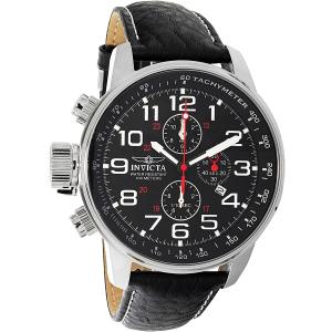 Invicta Men's 2770 Black Leather Quartz Watch