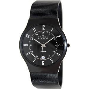 Skagen Men's Classic 233XLTMB Black Titanium Quartz Watch