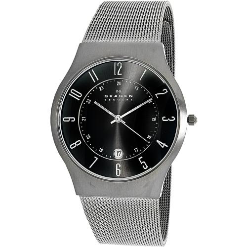 Skagen Men's 233XLTTM Grey Titanium Quartz Watch