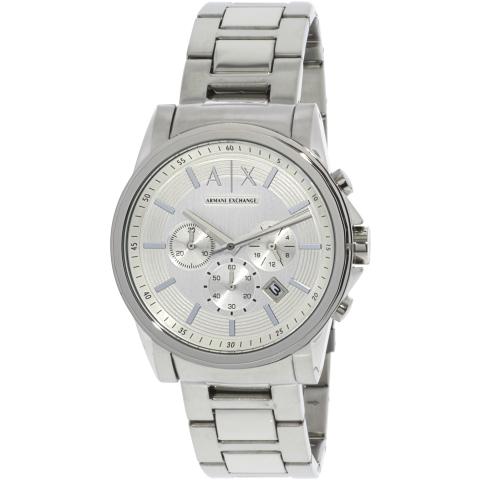 Armani Exchange Men's AX2058 Silver Stainless-Steel Japanese Quartz Fashion Watch