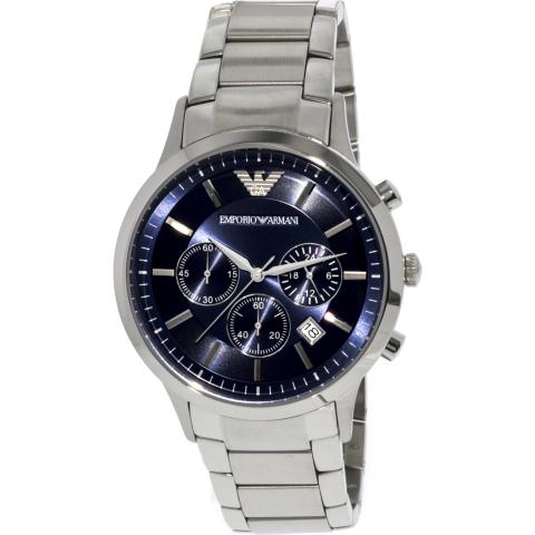 Emporio Armani Men's Classic AR2448 Silver Stainless-Steel Japanese Quartz Fashion Watch