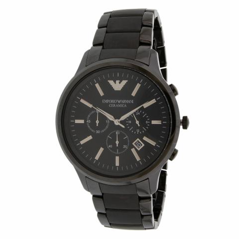 Emporio Armani Men's Renato AR1451 Black Ceramic Japanese Quartz Fashion Watch