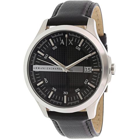 Armani Exchange Men's Whitman AX2101 Silver Leather Japanese Quartz Fashion Watch