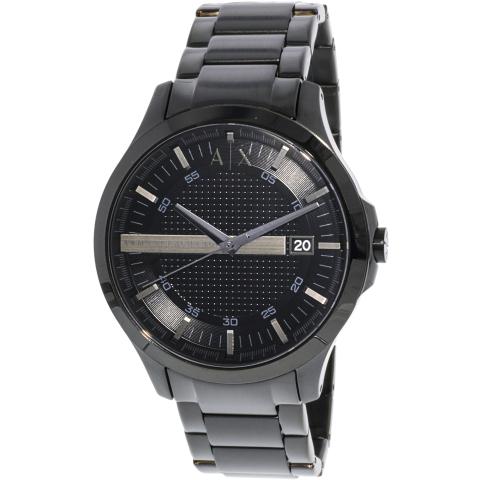 Armani Exchange Men's Hampton AX2104 Black Stainless-Steel Japanese Quartz Dress Watch