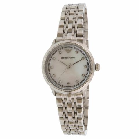 Emporio Armani Women's Classic AR1803 Silver Stainless-Steel Quartz Fashion Watch
