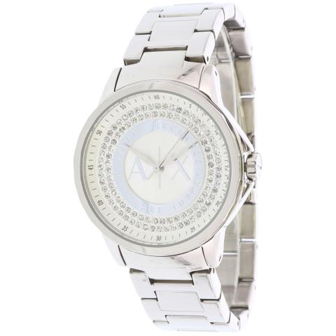 Armani Exchange Women's Julietta AX4320 Silver Stainless-Steel Plated Japanese Quartz Fashion Watch