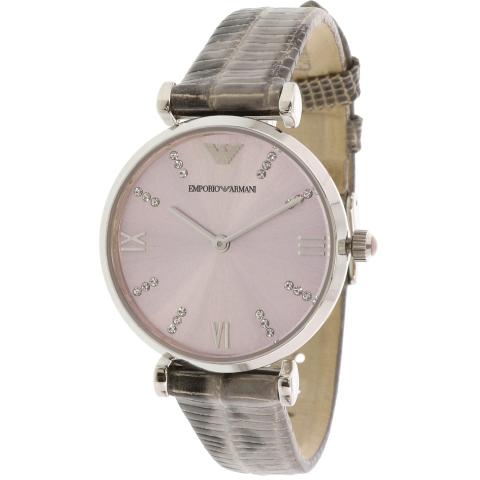Emporio Armani Women's Classic AR1882 Grey Leather Japanese Quartz Fashion Watch