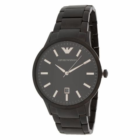 Emporio Armani Men's AR11079 Black Stainless-Steel Swiss Parts Quartz Fashion Watch