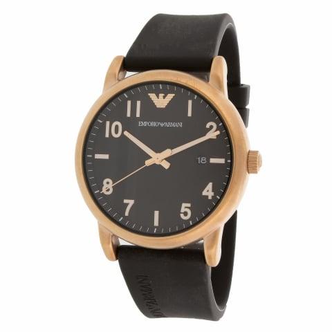 Emporio Armani Men's Luigi AR11097 Black Silicone Quartz Fashion Watch