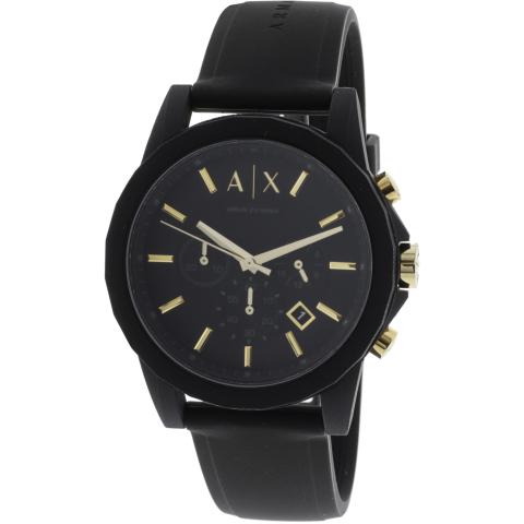 Armani Exchange Men's AX7105 Black Silicone Japanese Chronograph Fashion Watch