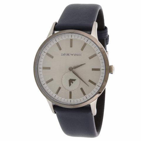Emporio Armani Men's Renato AR11119 Blue Leather Quartz Dress Watch