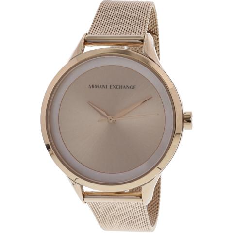 Armani Exchange Women's Classic AX5602 Rose-Gold Stainless-Steel Japanese Quartz Fashion Watch