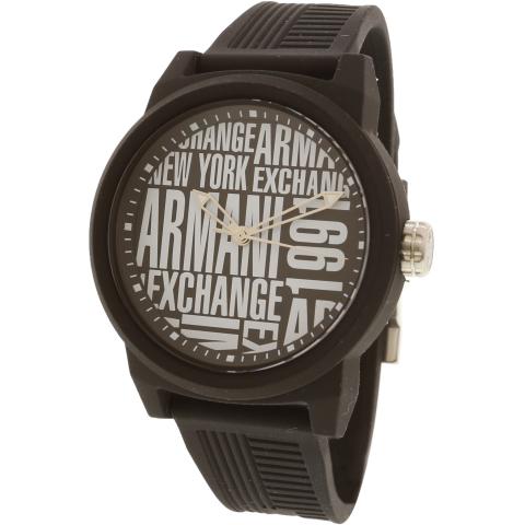 Armani Exchange Men's Classic AX1443 Black Silicone Japanese Quartz Fashion Watch