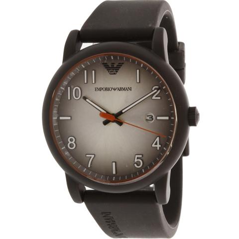 Emporio Armani Men's Ar11176 Silver Silicone Japanese Quartz Fashion Watch