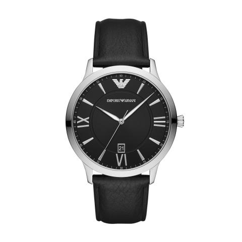 Emporio Armani Men's Giovanni AR11210 Black Leather Quartz Fashion Watch