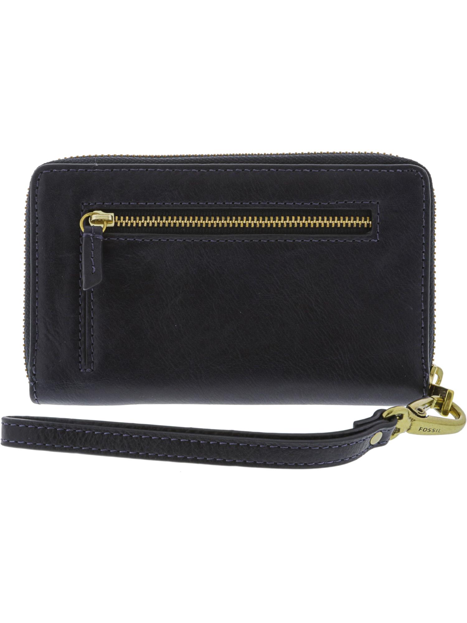 Fossil-Women-039-s-Emma-Smartphone-Wallet-Leather-Wristlet thumbnail 7