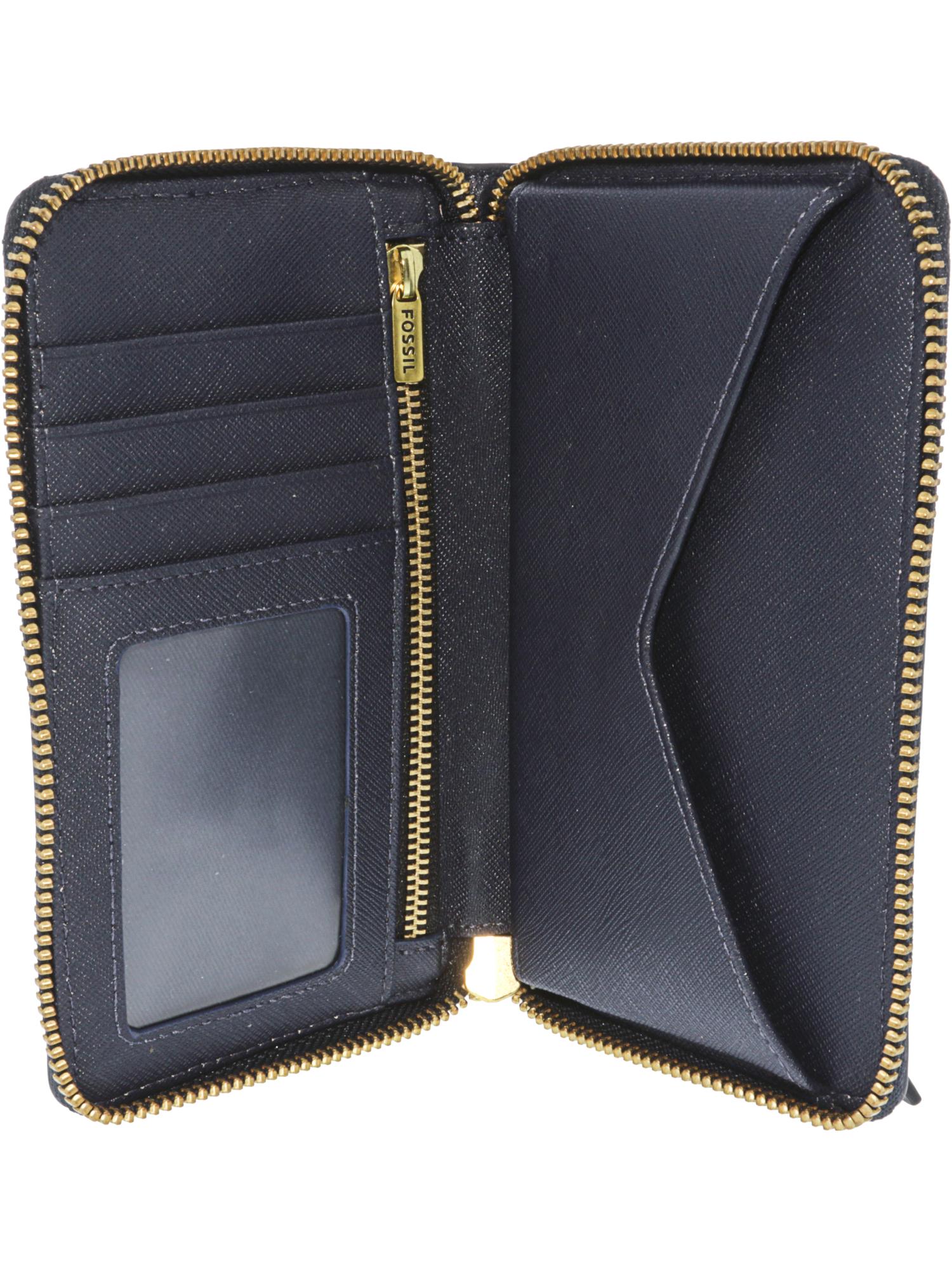 Fossil-Women-039-s-Emma-Smartphone-Wallet-Leather-Wristlet thumbnail 8
