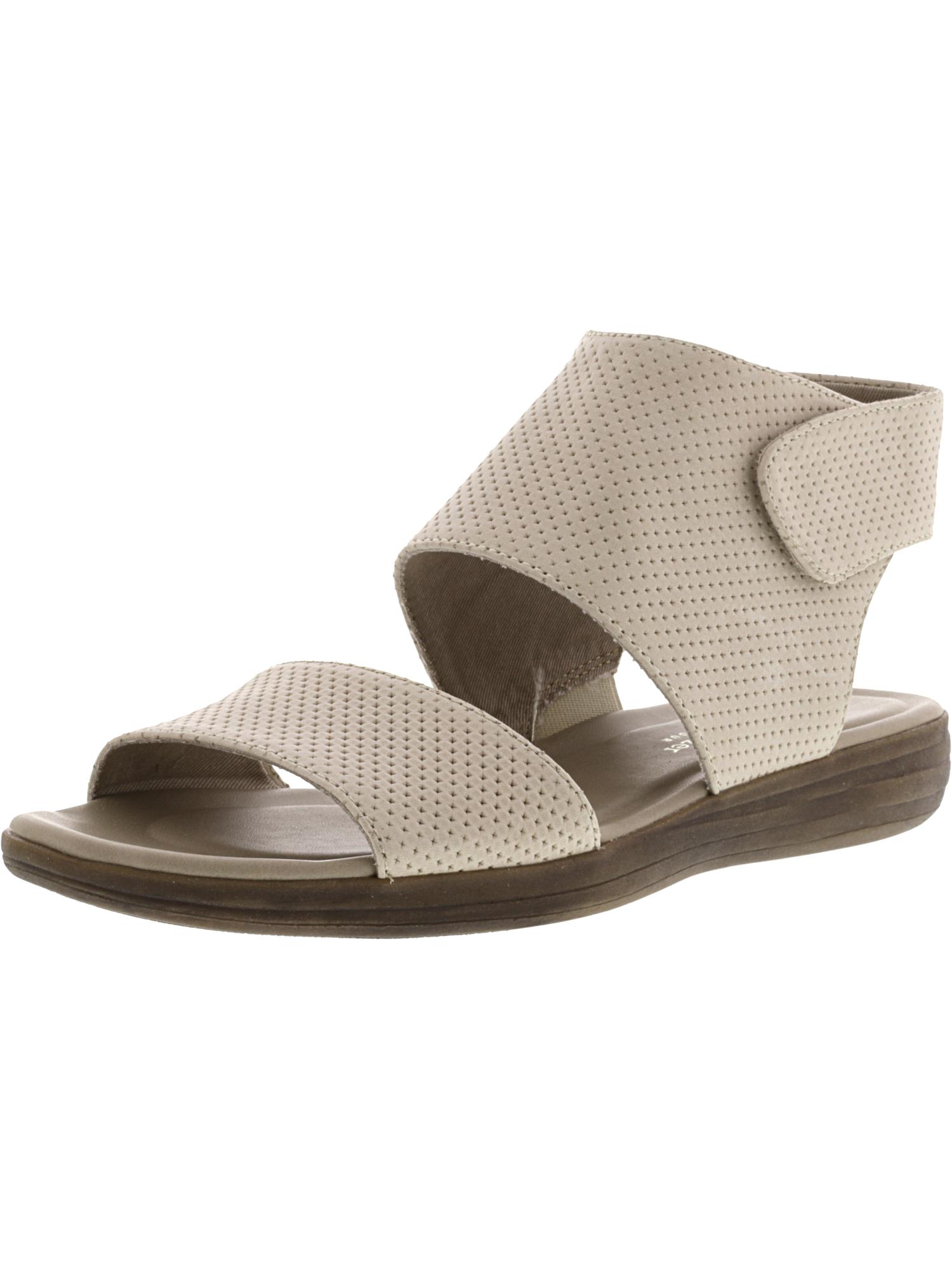 6a619fdc4c2d Naturalizer FAE Flat Comfort Sandals 965 Porcelain Leather 9 W US