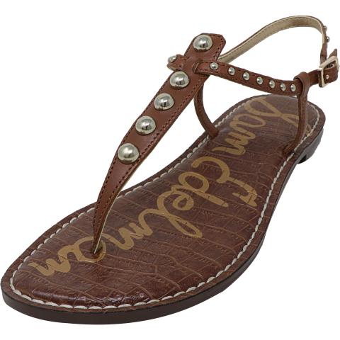 Sam Edelman Women's Gigi Leather Stud Ankle-High Sandal