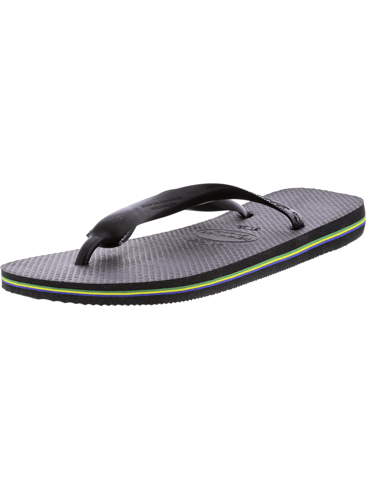da723a121 Havaianas Womens Brazil Sandal Flip Flop Black 37 Br 7 8 W US