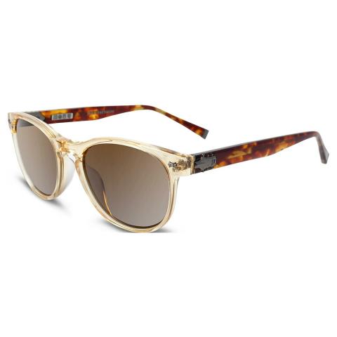 John Varvatos V774YEL51 Gradient Oval Sunglasses Brown