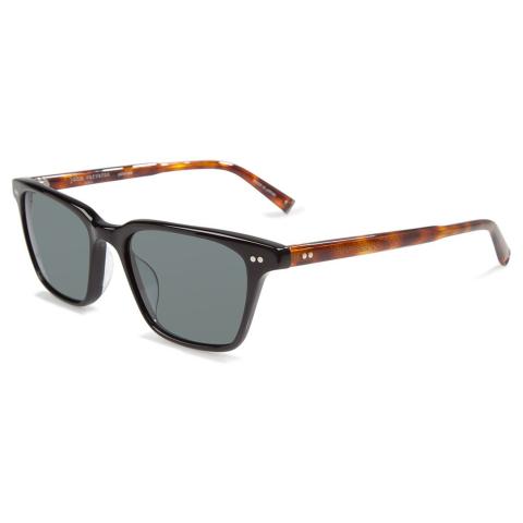 John Varvatos V601BLA54 Mirrored Square Sunglasses Black/Brown