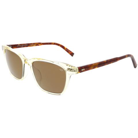 John Varvatos V601YEL54 Square Mirrored Sunglasses Clear/Copper