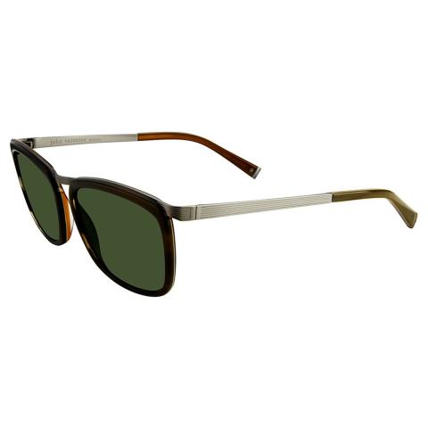 John Varvatos Men's Jv V520 Olive Horn 56/18/145 V520OLI56 Sunglasses