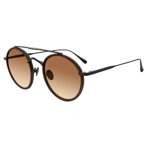 John Varvatos V523BRO51 Gradient Round Sunglasses Brown