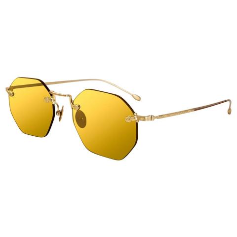 John Varvatos V526GOL49 Mirrored Aviator Sunglasses