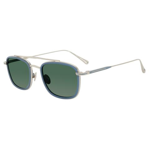 John Varvatos V529STO52 Mirrored Square Sunglasses Green/Blue