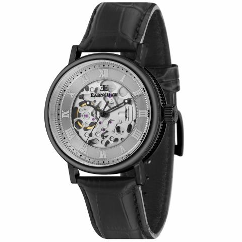 Thomas Earnshaw Men's Precisto Beaufort ES-8806-SETA-04 Black Leather Automatic Self Wind Watch Winder