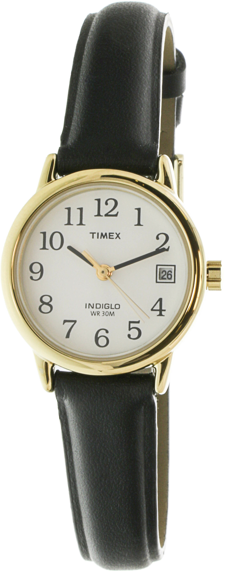 Timex_Womens_Easy_Reader_T2H341_Black_Leather_Quartz_Dress_Watch