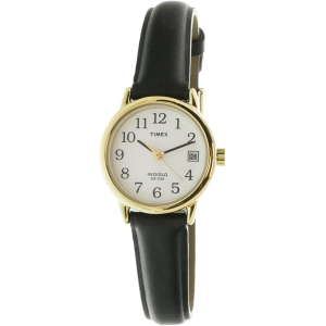 Timex Women's Easy Reader T2H341 Black Leather Quartz Watch