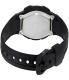 Casio Men's Core AQ163W-1B1V Black Rubber Quartz Watch - Back Image Swatch