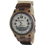 Casio Men's Core AW80V-5BV Beige Nylon Quartz Watch
