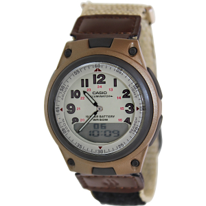 Casio Men's Core AW80V-5BV Beige Nylon Quartz Watch