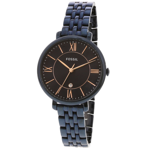 Fossil Women's Jacqueline ES4094 Blue Stainless-Steel Plated Quartz Fashion Watch
