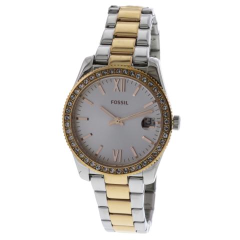Fossil Women's Scarlette ES4372 Matte Silver Two-tone Stainless-Steel Japanese Quartz Fashion Watch