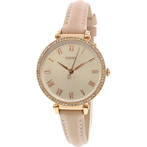 Fossil Women's Kinsey ES4445 Pink Leather Japanese Quartz Fashion Watch