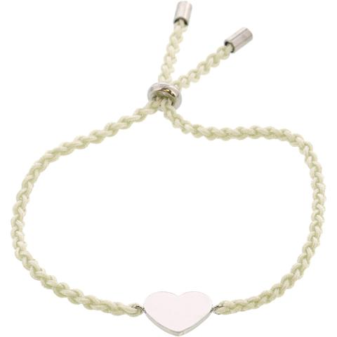 Fossil Women's Heart Nylon Bracelet Strand
