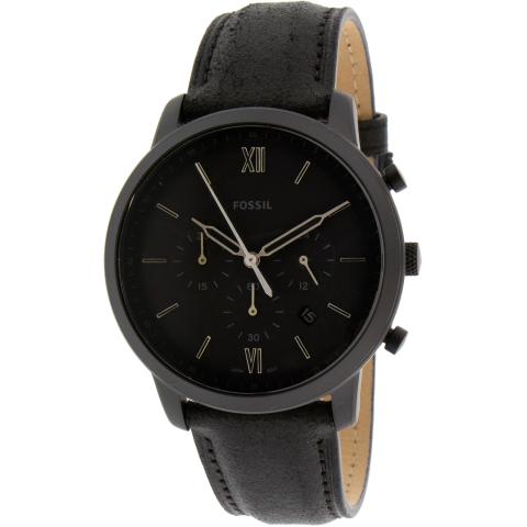 Fossil Men's Neutra FS5503 Black Leather Japanese Quartz Fashion Watch