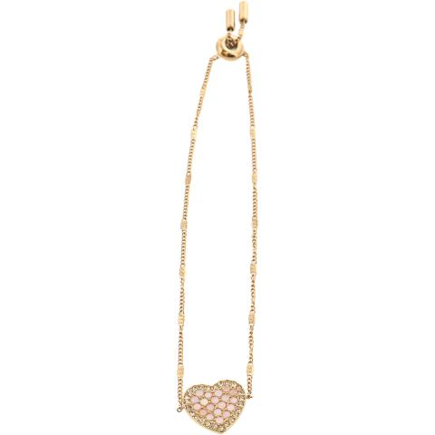 Fossil Women's Mosaic Heart Bracelet Pendant Necklace